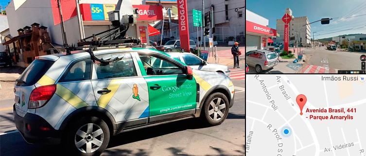Carro do Google Street View é flagrado nas ruas de Itupeva, SP