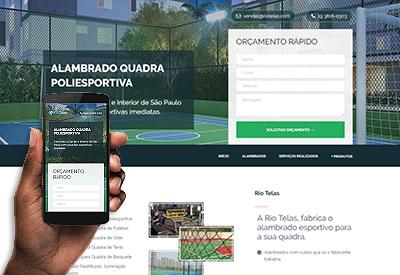 Rio Telas - Landing Page