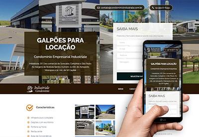 Condomínio Industriale - Landing Page