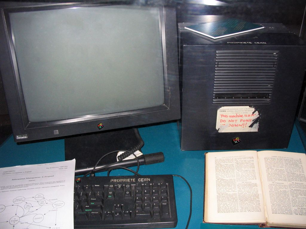 O primeiro servidor da web (Reprodução: CERN)
